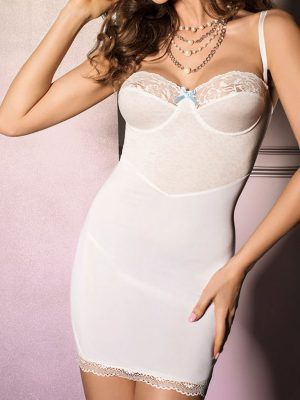 ava chemise white stretchy sleepwear sexy lingerie